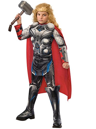 Group Costumes For 2016 (Rubie's Costume Avengers 2 Age of Ultron Child's Deluxe Thor Costume, Large)