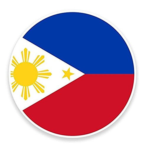 3 Pack - Philippines Flag WINDOW CLING STICKER Car Van Campervan Glass - Sticker Graphic - Construction Toolbox, Hardhat, Lunchbox, Helmet, Mechanic, Luggage