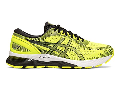 ASICS Men's Gel-Nimbus 21 Running Shoes, 13M, Safety ()
