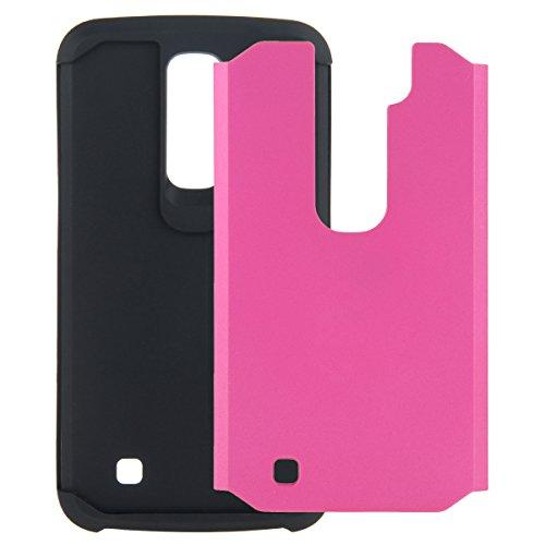 CMID Funda Protectora Híbrida para LG K10, Interior de Gel TPU, Carcasa para móvil de plástico y goma A-2
