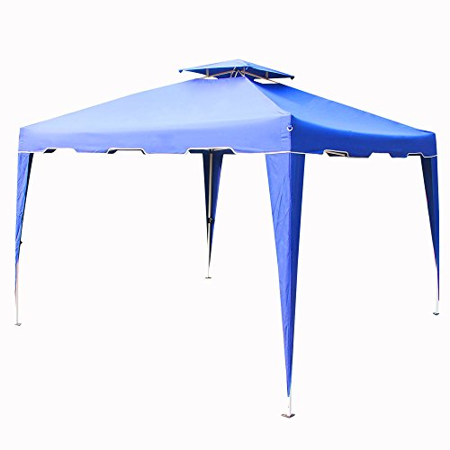 Cloud Mountain Pop up Canopy Tent 10x10 ft Patio Portable Instant Folding Canopy Party Outdoor Canopy with Carry Bag, Royal Blue by Cloud Mountain
