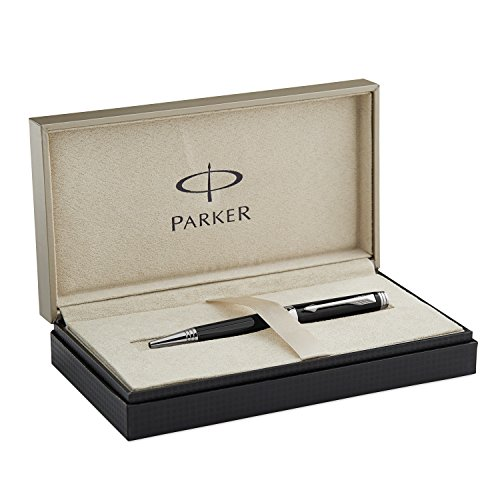 Parker Premier Deep Black Lacquer with Silver-plated Trim, Ballpoint Pen with Medium Black refill (S0887880)