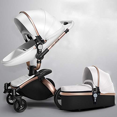 MQQ Light Folding Baby Stroller 360 Rotation 2-in-1 Can sit Reclining high Landscape Two-Way Shock Absorber Bed Dual…