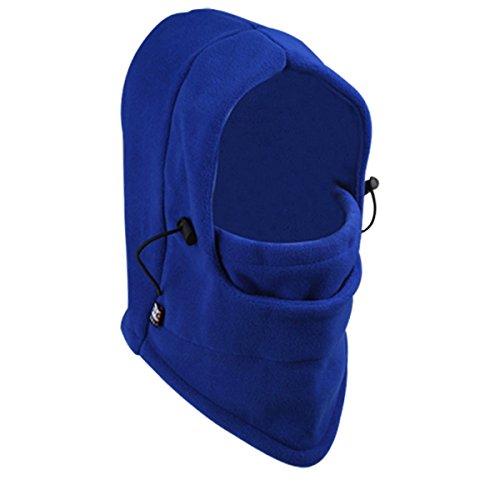 Cozyswan Doppelschicht volle Innenbelag Thermovorhang Warmer Fleece Balaclava Hood Hat Winter Face Cover Maske windfester Stopper Nackenwärmer für draußen Motorrad Snowboardhelm Ski (blau)