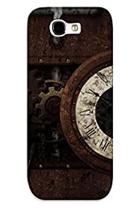 Crazinesswith High Quality Steampunk Clock Case For Galaxy Note 2 / Perfect Case For Lovers