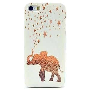 TY-Estrellas doradas& caso del elefante para el iphone 5 / 5s