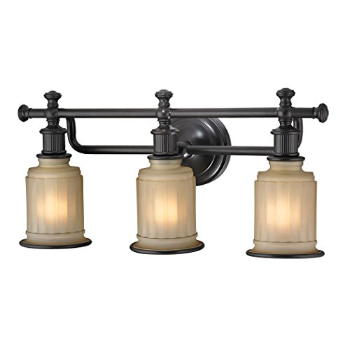 Elk Lighting 52012/3 Acadia Collection 3 Bath Light, Oil Rubbed Bronze
