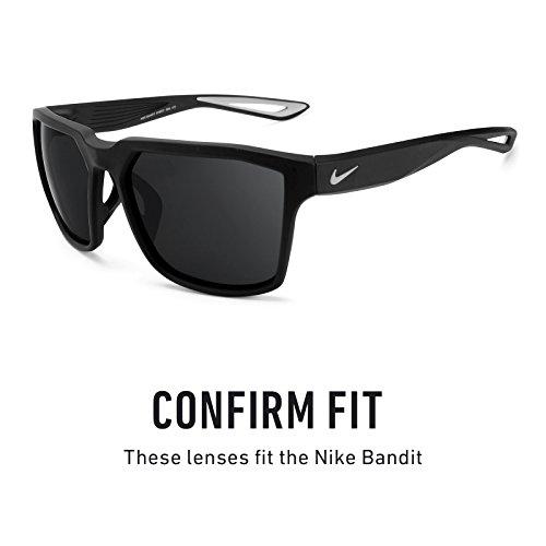 Verres de rechange pour Nike Bandit — Plusieurs options Transparent - Non-Polarisés