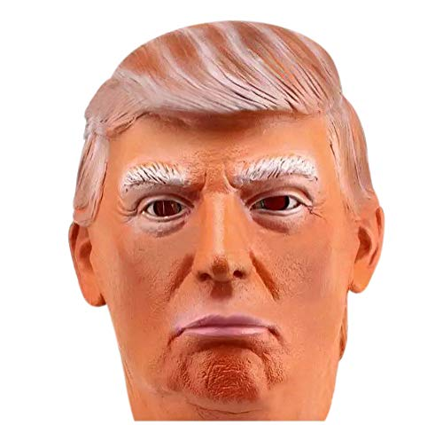 Halloween Costume Donald Trump Celebrity Mask,Cardboard Face and Fancy Dress Mask (Style B)