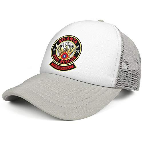 DXQIANG Atlanta Fire Rescue Department Unisex Unique Mesh Trucker Cap Breathable Adjustable Sun Caps