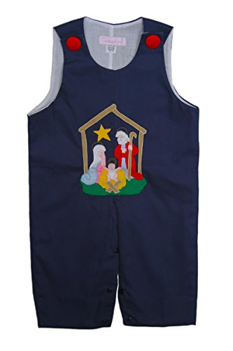 Carouselwear Baby Boy First Christmas Outfit Nativity of Jesus Appliqué 3m