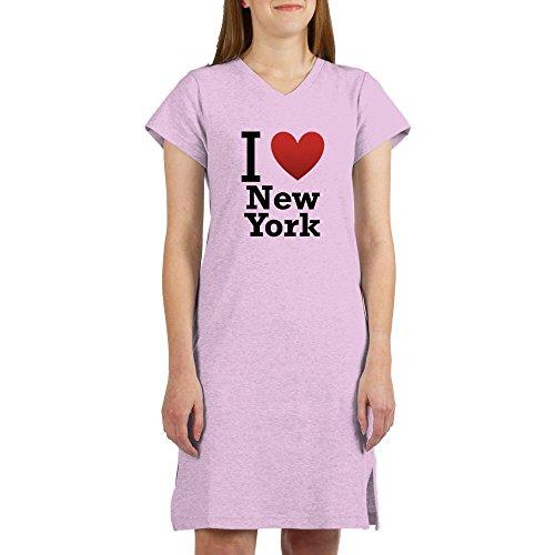 CafePress - I Love New York - Women's Nightshirt, Soft Long Pajama Shirt, Cotton PJs / Pyjamas - I Love Pj