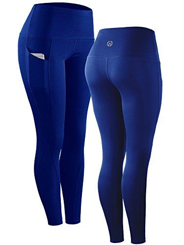 Neleus 2 Pack Tummy Control High Waist Running Workout Leggings,9017,2 Pack,Grey,Blue,US S,EU M by Neleus (Image #2)