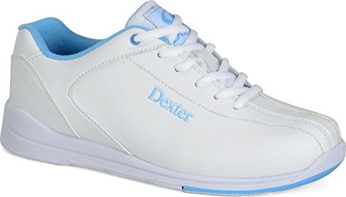 l IV Bowling Shoes, White/Blue, 7 (Dexter Bowling Shoes Women)