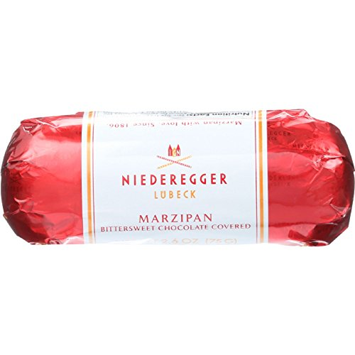 Niederegger Marzipan Loaf - Chocolate Covered - 2.6 oz - case of 20 - Yeast Free - Wheat Free by Niederegger