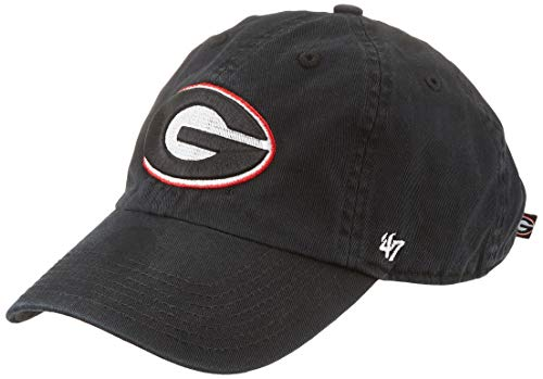 '47 NCAA Georgia Bulldogs Clean Up Adjustable Hat Clean Up Adjustable Hat, Black, Youth