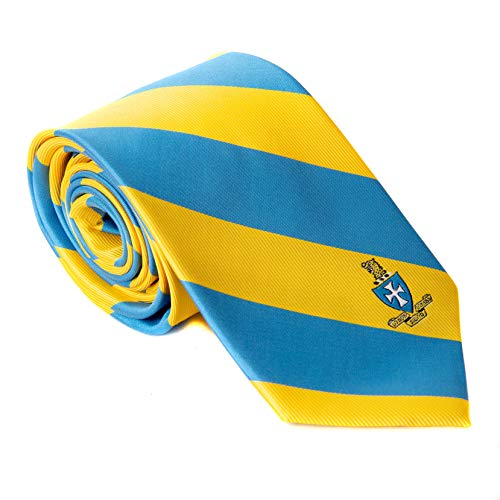 Sigma Chi Fraternity Necktie Tie Greek Formal Occasion Standard Length Width Sig Chi (Striped Crest Tie)