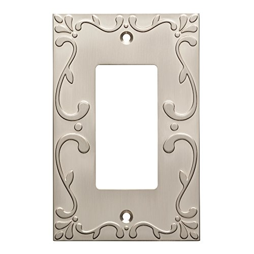 Franklin Brass W35072-SN-C Classic Lace Single Decorator Wall Plate/Switch Plate/Cover, Satin Nickel by Franklin Brass