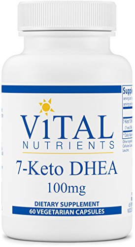 Vital Nutrients - 7-Keto DHEA 100 mg - Natural Metabolite Promoting Healthy RMR - 60 Capsules by Vital Nutrients