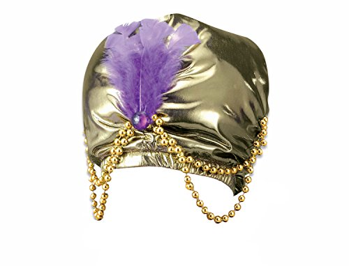 [Forum Novelties - Gold Turban with Beads,12