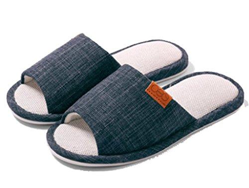 Comfortabel Herenhuis Slaapkamer Pantoffels Open Teen Pantoffels Marineblauw