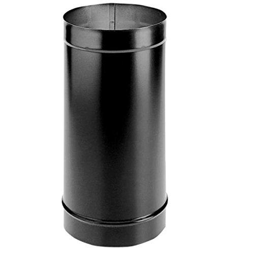 48' Dura Vent (7'' x 48'' DuraBlack Single-Wall Black Stove Pipe - 1748)
