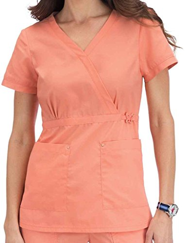 koi 288 Women's Amy Top (Sweet Coral, Large)