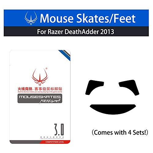 New Mouse Skates & Mouse Feet & Mice Feet & mouseskates (for Razer DeathAdder 2013 (Comes with 4 Sets))