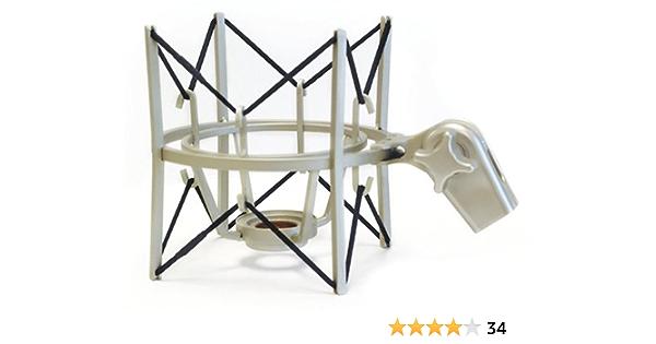 MXL USM-001-G Gold Plated Heavy Duty Basket Shock-mount with Pop Filter