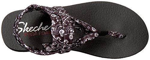 Skechers Women's Bandana Black Meditation Studio Kicks rrnWSgR