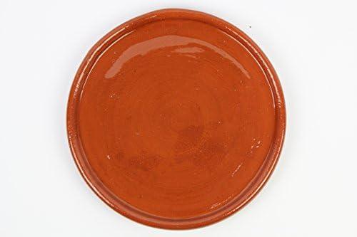 Plato de barro para chuletón Medidas 32 cm diámetro. 2,5cm altura. 2,2 kg Totalmente artesanal. Se puede utilizar directamente al fuego.