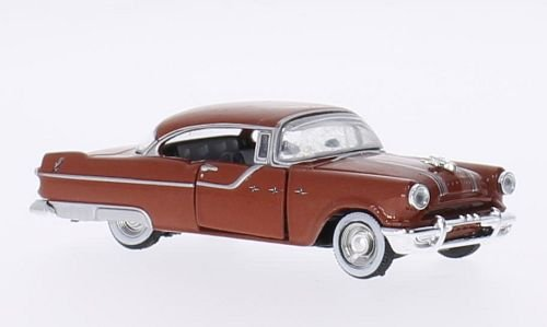 64 Pontiac Star - Pontiac star Chief, metallic-brown, 1955, Model Car, Ready-made, M2 Machines 1:64