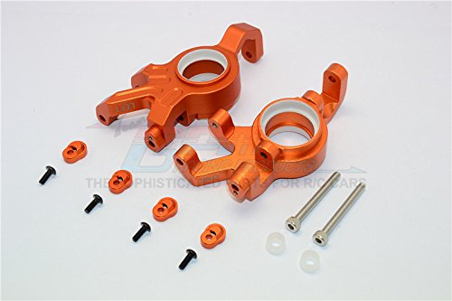 Traxxas X-Maxx 4X4 Upgrade Parts Aluminum Front Knuckle Arms With Collars - 1Pr Set Orange (Knuckle Arm Set)