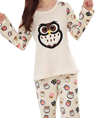 Summer Women 2-Piece Floral Printing Smocked Waist Lounger Pajama 1 XL