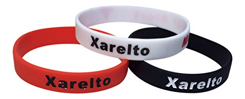 Xarelto Bracelets Medical Alert Silicone Wristbands Pack Of 3  Black  White  Red