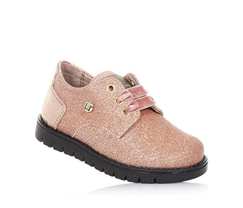 Et Italy Liu À Fille Filles Cuir Rose Made En Jo Lacets Chaussure Glitter L'anglaise In wwFUxn