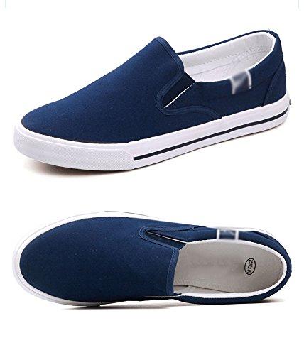 di pigre scarpe da da da uomo WFL di tela scarpe scarpe uomo blu uomo da da uomo Scarpe di Prussia uomo scarpe pedali casual nere stoffa UwwqSxA