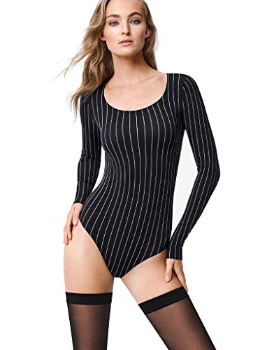 - Wolford Muriel String Body-Black/White-Small