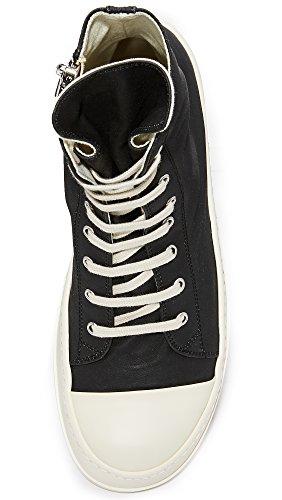 Rick Owens DRKSHDW Men's Rubber Cotton Cap Toe Sneakers, Black/Milk, 41 EU (8.5 D(M) US Men) by Rick Owens DRKSHDW (Image #3)