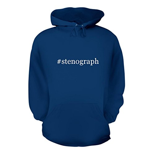 #stenograph - A Nice Hashtag Men's Hoodie Hooded Sweatshirt, Blue, Large (Accessories Stenograph)