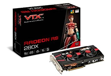 VTX3D AMD Radeon R9 280X UEFI 3GB GDDR5 Graphics Card, PCI Express 3 0,  HDMI, DVI-I, Mini DisplayPort, 384-bit,GCN Architecture, AMD HD3D Technology