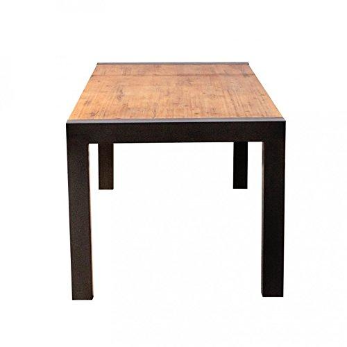 Métal Finitions Cmfacture – Industrielstructure 90 160210 Table En Bois Soignées Style Collection X Extensible D'acacia Repas Meubletmoi Plateau wlTOZXuPki