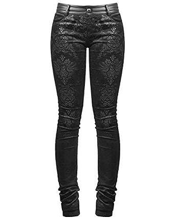 8fce4a6a811e Punk Rave Viktorianisch Damask Enge Jeans Hose Hose Schwarz Goth Steampunk  VTG - Schwarz, XL