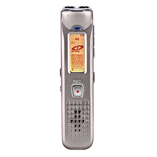 RG Digital Voice Recorder Multifunctional Rechargeable Dictaphone Stereo Voice Recorder with MP3 Player Perfect for Recording