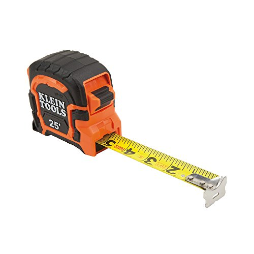 Klein Tools 86125 Single Hook Non-Magnetic Tape Measure, 25-Foot