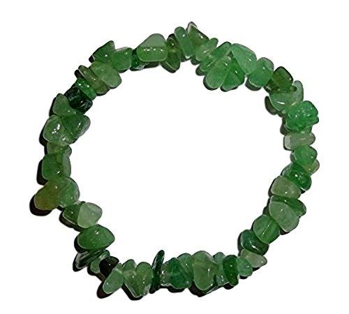 1pc Natural Healing Crystal Green Aventurine Chip Gemstone 7 Stretch Bracelet