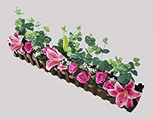 Artificial Eucalyptus, Lily and Rose box arrangement Indoor decoration flowers home flowers Items