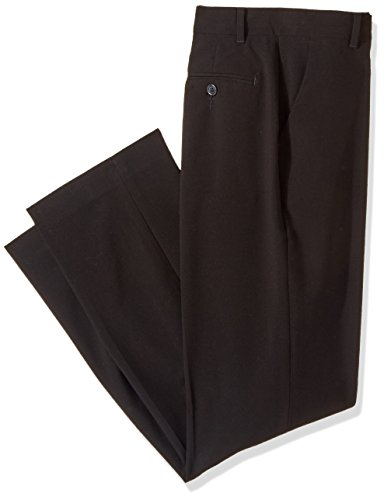Calvin Klein Big Boys' Bi-Stretch Flat Front Pant, Black, 18
