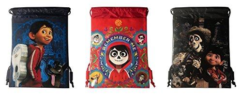 Disney Coco Drawstring Backpack Bundle Pack of 3