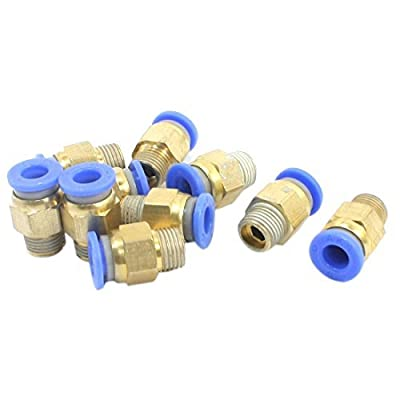DealMux 10PCS 1/8PT to 6mm Pneumatic Air Quick Release Fitting Joint Connector